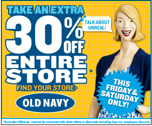 Past Old Navy Coupon Codes