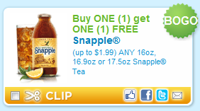 New Printable Coupons B1g1 Free Snapple Sargento All