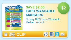 New Printable Coupon 2 1 Expo Washable Dry Erase Markers Stretching A Buck Stretching A Buck