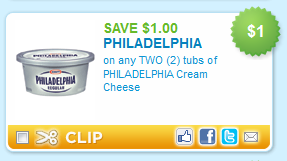 Philadelphia Cream Cheese isn't just for bagels (though there's nothing wrong with a toasty bagel with plenty of Philly!). Use Philly for sauces, soups and dressings as well. The creamy texture and mild, rich flavor are just what you're looking for. Try these printable coupons for bargains on Philadelphia Cream Cheese and stock your fridge.