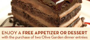 Olive Garden Coupon Free Appetizer Or Dessert With Purchase Stretching A Buck Stretching A