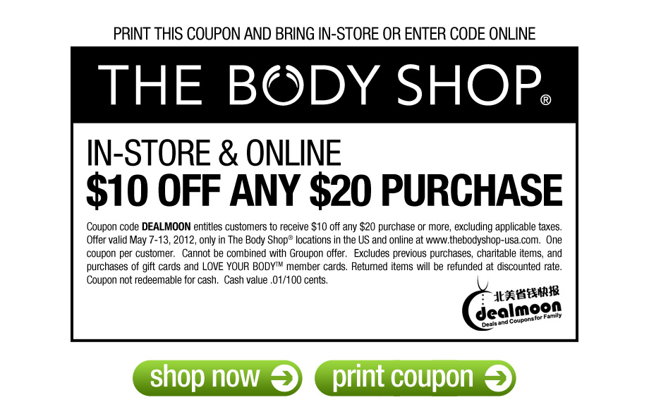 Find the best of The Body Shop promo codes, coupons, online deals and in store sales Amazing Deals Everyday · New Deals Of The Day · Today's Hottest Deals · Best Deals Today 70% Off.