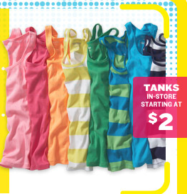 0e72d76e3dcf8 Stop into Old Navy this weekend and you can get women s and girls tank tops  ...
