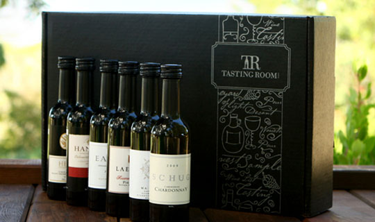 Wine sampler from tastingroom. Com – online deal $19 for a premium.
