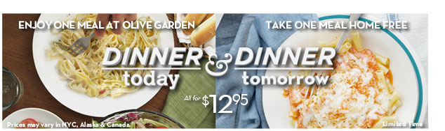 Olive Garden Dinner Today Dinner Tomorrow Promotion Ends 11 18 12 Stretching A Buck