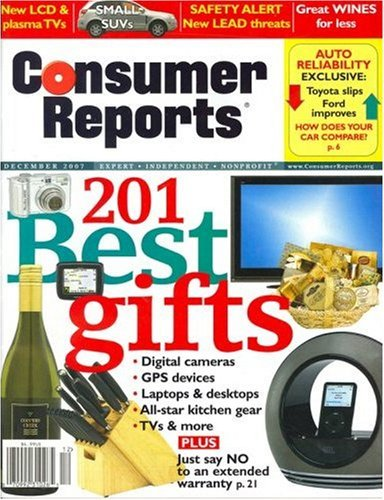 Consumer Reports has been published monthly since by the non-profit Consumer's Union, and features unbiased test results of cars, computers, appliances, and other brand-name consumer products, as well as practical advice on health and financial services.