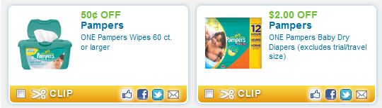 Free coupons for diapers and wipes