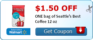 New Coffee Coupons Save 1 50 1 Seattle S Best 1 1