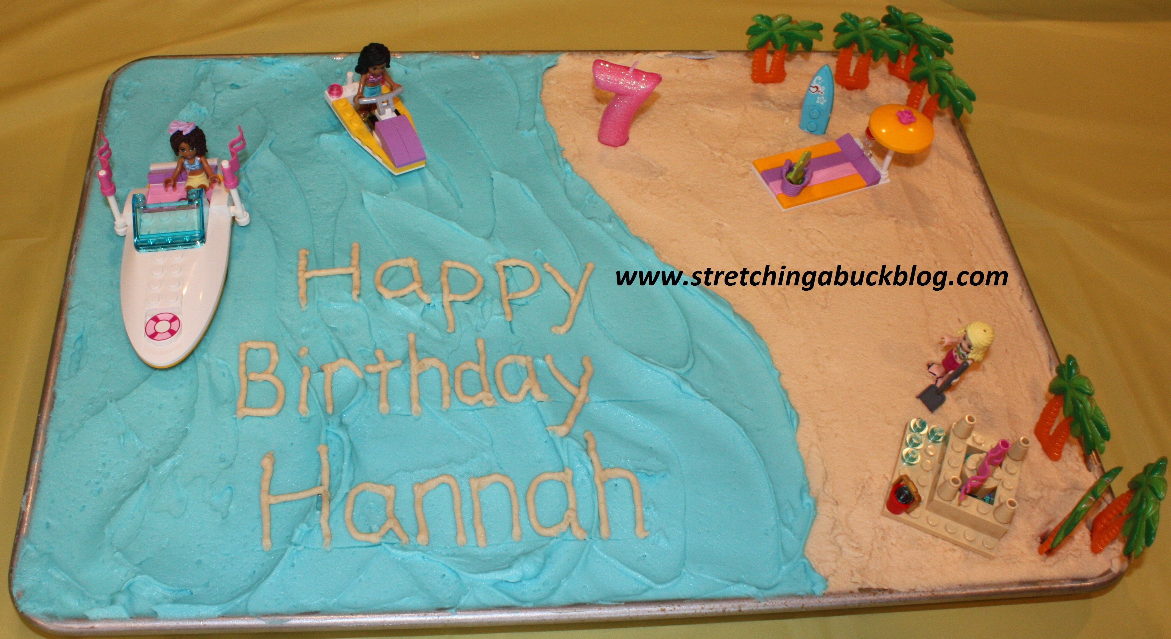 Phenomenal How To Make A Budget Beach Party Birthday Cake Stretching A Buck Personalised Birthday Cards Paralily Jamesorg