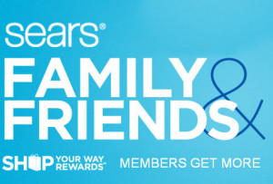 March Friends and Family Sears
