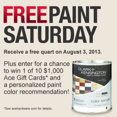 picture regarding Ace Hardware Printable Coupons named Ace Components Coupon Totally free Paint Give this Saay (8/3/13