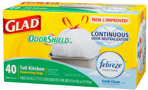 New Glad Odor Shield Trash Bags Coupons Save 0 50 1 Or