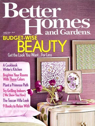 Better homes gardens magazine subscription deal 1 year Better house and home