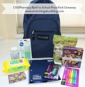 cvs pharmacy back to school prize pack giveaway