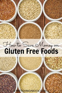how to save money on gluten free foods
