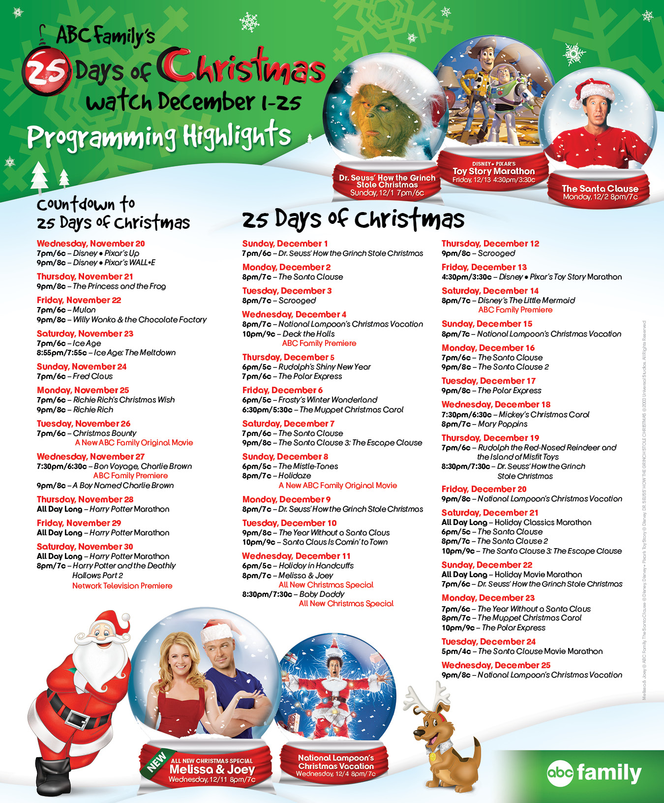 abc family 25 days of christmas shows to watch - 2014 Christmas Shows On Tv