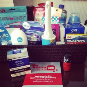 cvs blogger event gift basket