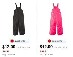 champion snow pants target doorbuster deal