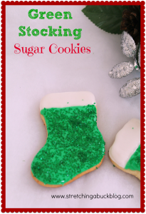 christmas sugar cookie recipe green stockings