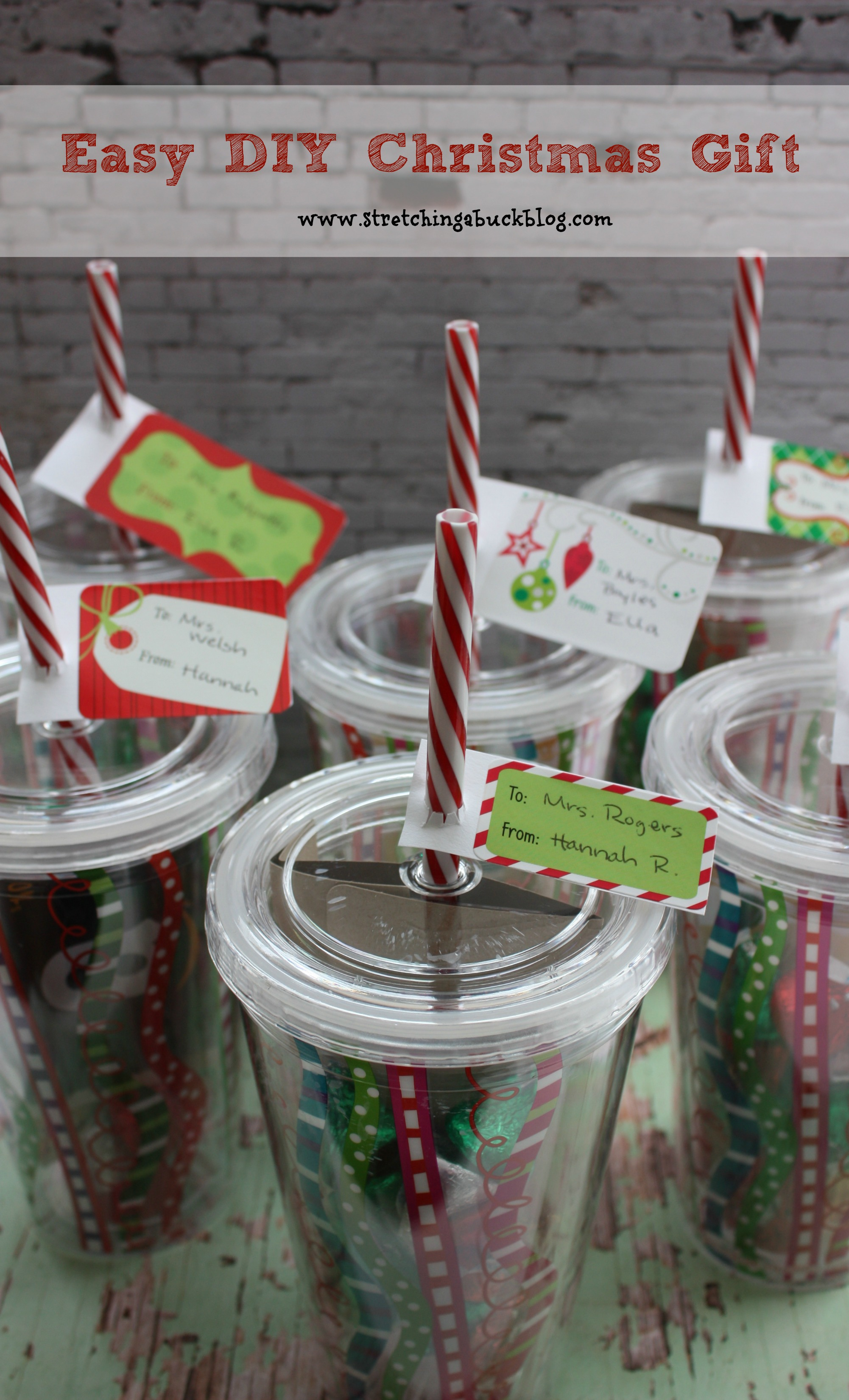 Easy diy christmas gift idea for teachers friends more Easy gift ideas for friends