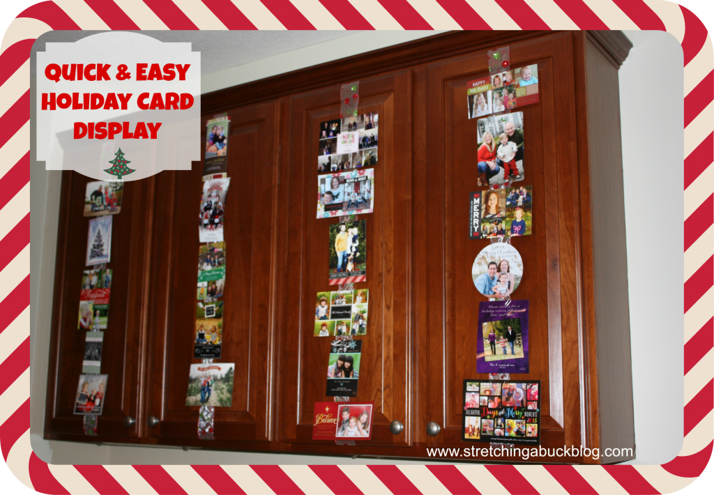 quick and easy holiday card display