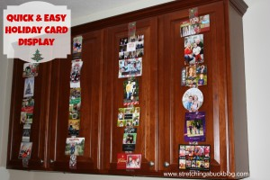 quick and easy diy holiday card display