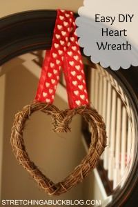 easy frugal diy heart wreath