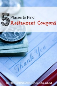 how to find restaurant coupons