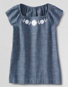 lands end chambray top