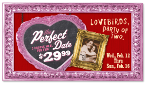 max and ermas valentines day menu deal 2014