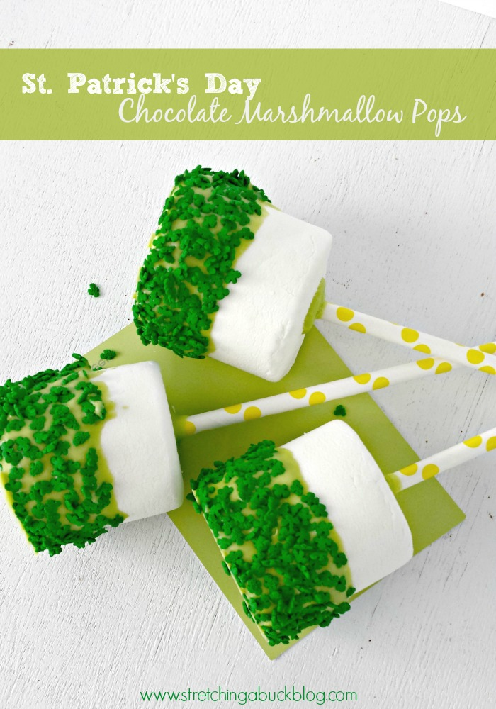 st patricks day chocolate marshmallow pops recipe