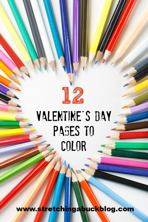 free valentines day pages to color