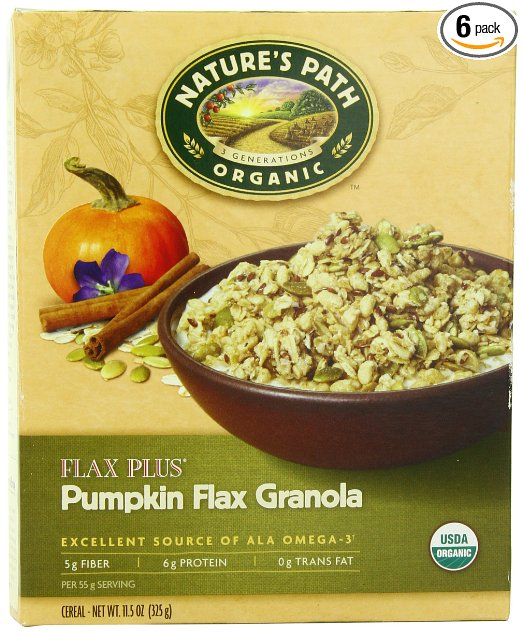 Nature's Path Organic Flax Plus Pumpkin Granola Cereal For