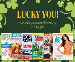 discount mags st pattys day sale