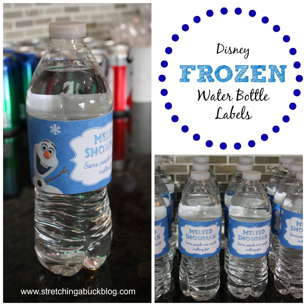 Disney Frozen Water Bottle Labels