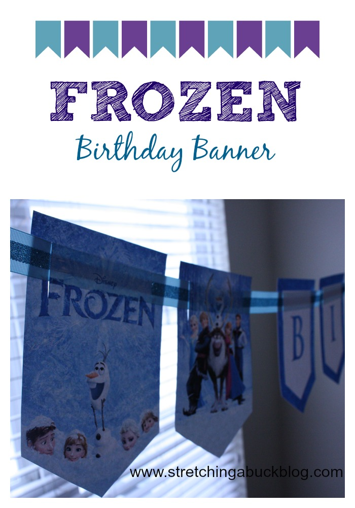 disney frozen diy birthday banner