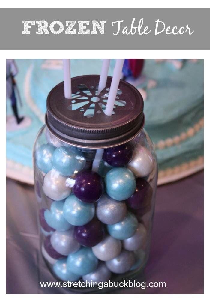 disney frozen party table decor