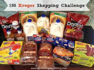 50 dollar kroger shopping challenge