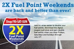 kroger double fuel points weekends