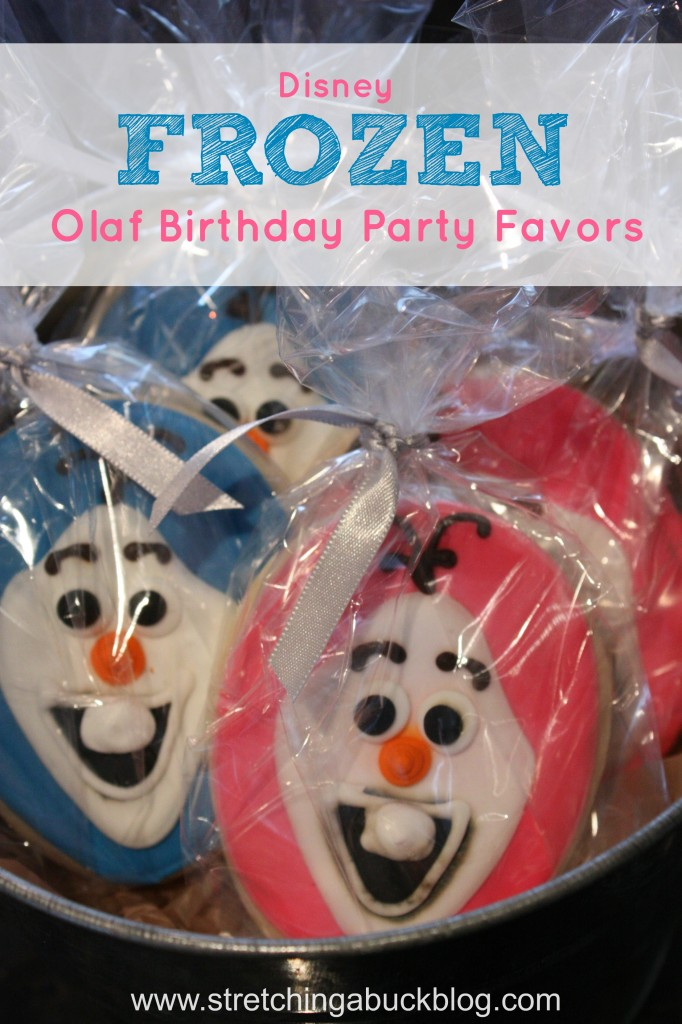 disney frozen olaf birthday party favors