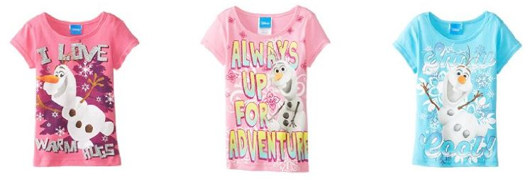 disney frozen tshirts for kids