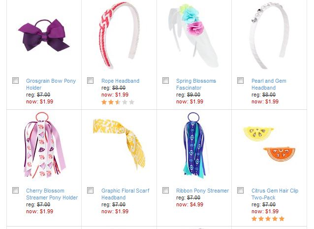 gymboree hair accessory sale