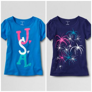 lands end patriotic girls shirts