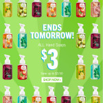 Thumbnail image for Bath & Body Works Sale | Hand Soap Pumps for $3 Each + $1 Shipping