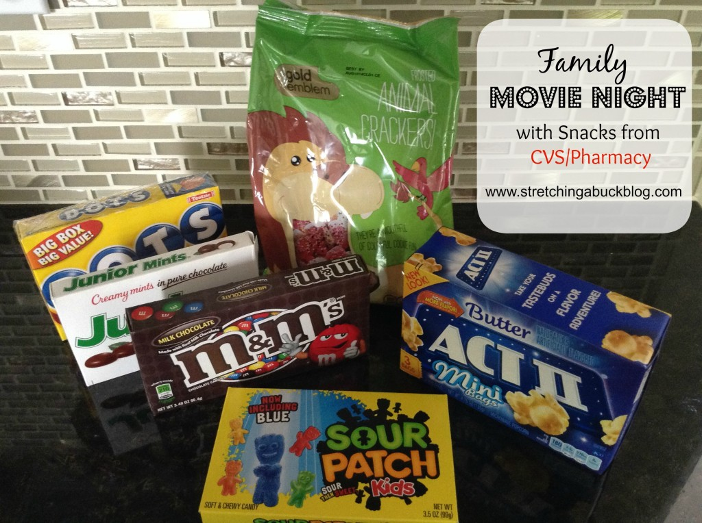 family movie night cvs pharmacy snacks
