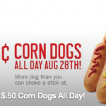 Thumbnail image for Sonic Drive-In Deal | $0.50 Corn Dogs Tomorrow (8/28)