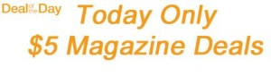 amazon deal of the day magazine subscription sale
