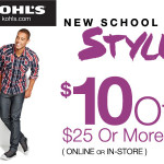 Thumbnail image for Kohl's $10 off $25 Purchase Coupon