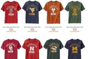 old navy boys college tees