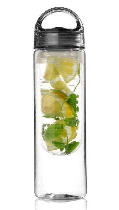 fruit infuser tritan water bottle for stretching a buck stretching a buck. Black Bedroom Furniture Sets. Home Design Ideas